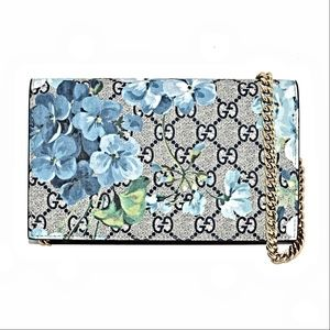 New Gucci Gg Blooms Supreme Canvas Cross Body Bag